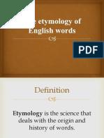 Etymology of English words