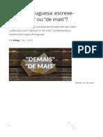 Língua Portuguesa_ escreve-se _demais_ ou _de mais__ _ VortexMag.pdf