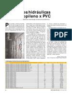 Ed. 34 - Mai-2004 - Instalações Hidráulicas de Polipropileno x PVC