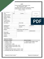 Students Information Form- JSC
