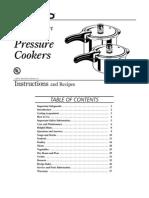 Presto Pressure Cooker Manual