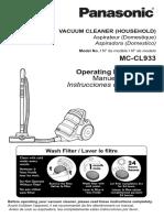 JetForce™ Bagless Canister Vacuum MC-CL933 Manual