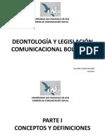 Deontología y Legislación Comunicacional Boliviana Completopdf