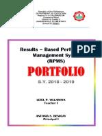New Ppst - Rpms Teacher I-III 2018 -2019