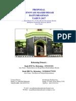 Proposal Renovasi Masjid Baitur Rahman Edit 1