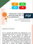 Análisis FODA sobre la aplicación del SIAV