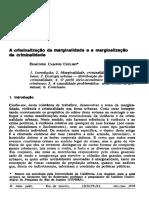 Edmundo Campos Coelho, A criminalização da marginalidade e a marginalização da criminalidade (1978)