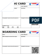 Boarding and Departure Cards
