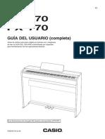 Manual Casio PX770