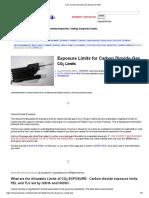 CO2 Carbon Dioxide Gas Exposure Limits