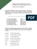 Acta de Constitucion Del Comité de Apoyo de La Compañía