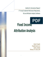 Fixed Income Attribution Analysis