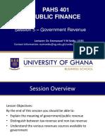 Session 5 Government Revenue