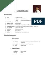 Resume of Me