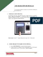 Manual Grabacion de Huellas - Dicon