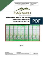 Programa Anual de Conservación y Protección Del Ambiente 2018- La Estrella.