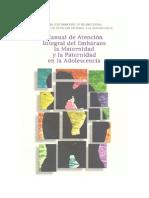 Manual de atención integral del embarazo, maternidad y paternidad adolescente