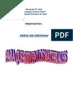Proyecto Feria de Ciencias primaria