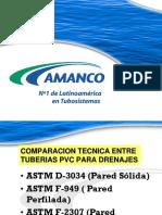 comparaciones tecnicas entre tuberias pvc para drenajes