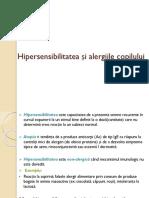 Curs 12 - Hipersensibilitatea Și Alergiile La Copil