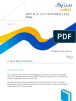 SABIC New Supplier Self Services (SUS) Training Manual
