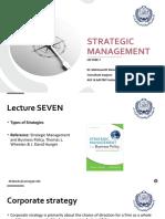 Strategic Management - Lec 7