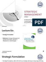 Strategic Management - Lec 6