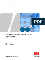 Guide on Enabling BFD & ARP Detections