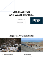 Site Selection for Landfill-1