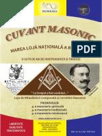 Revista CUVANT MASONIC EDITIE CENTENARA 2018 - Romana