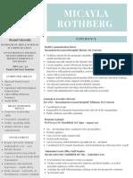 micaylarothberg resume