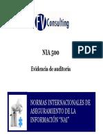 NIA 500 - Evidencia de Auditoria