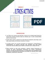 Unidad IV, Filtros Activos