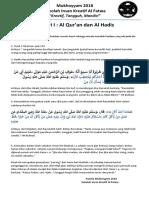 Materi I AL Quran Dan Hadis
