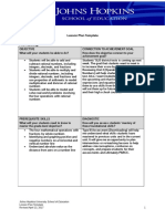 annotated lesson plan template bwallington