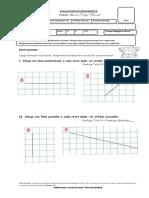 Evaluación Matemática Lineas Perpendiculares y Paralelas