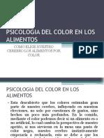 Psicologia Del Color en Los Alimentos