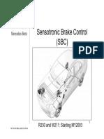 -MERCEDES BENZ- Manual de Taller Documentacion Tecnica Sobre El Sistema Sensotronic de Mercedes Benz Ingles