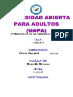 329573317 Tarea IV Evaluacion de Los Aprendizaje Gloria
