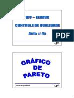 RSontrole de Qualidade 2015 - Aula 4a - Pareto