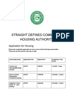 Straight Defined Community Housing Authority