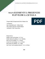 Managementul Prezentei La Scoala