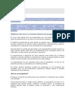 Objetivos Del Curso y Nociones Básicas de Programación