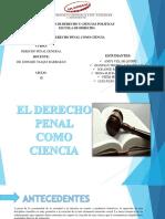 EL DERECHO PENAL COMO CIENCIA
