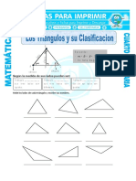 Los Triangulos y Su Clasificacion Para Cuarto de Primaria