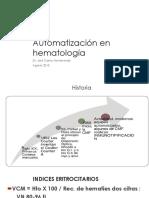 Automatización en Hematología 2018 JCM