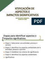 Diapositivas-identificación de Aspectos e Impactos Ambientales Significativos