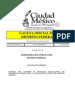 Pddu Tlalpan Ciudad De México Planeamiento Urbano