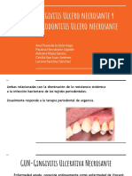 Gingivitis Ulcero Necrosante y Periodontitis Ulcero Necrosante