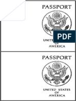 passport outline